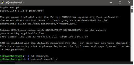 Execute the Python Script