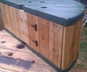 Cable Spool Bench, With Storage