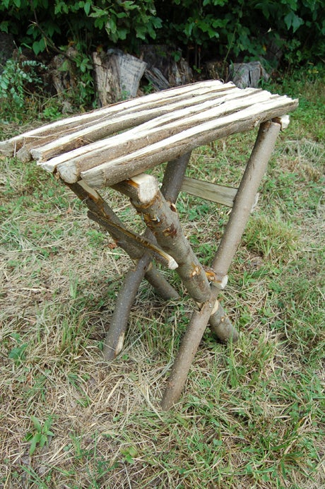 Hand-Made, Split Wood Table