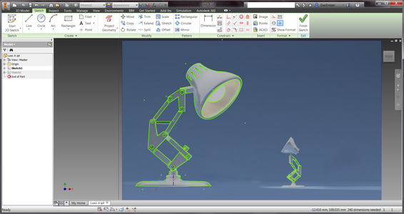 Tracing an Image in Inventor