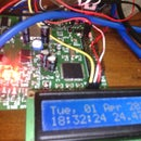 Speaking clock with AVR