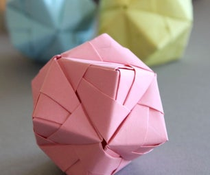 DIY Origami Ball Sonobe Style in Pastell