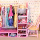 DIY Dress Up Station With Vanity
