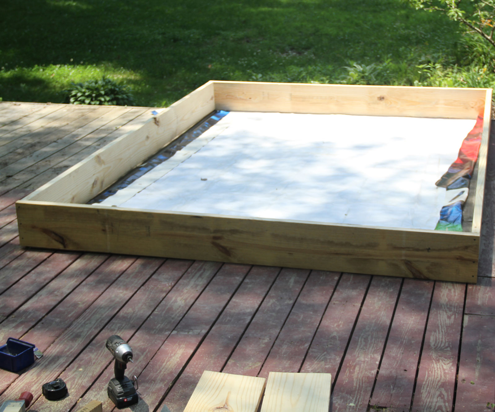 Raised Bed Deck Garden