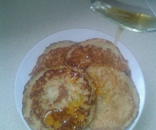 Single Mans No (real) Measure Banana Pancakes!