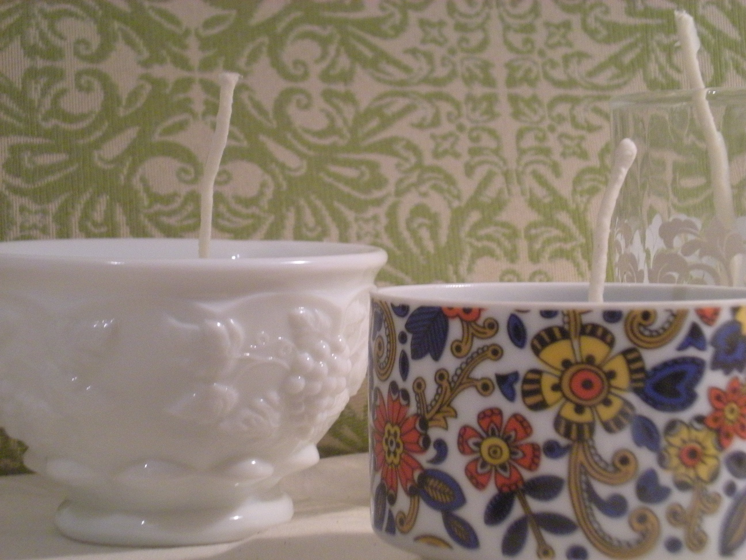 Recycled Teacup Soy candle,  natural and eco friendly