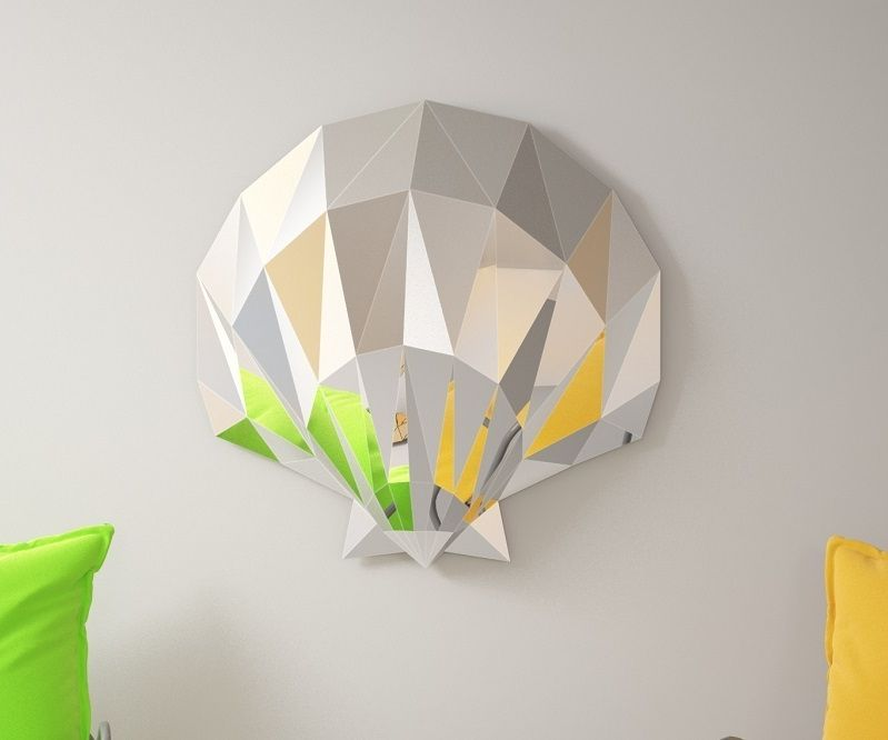 """How to Create a Mirror 3D Sculpture """"Shell"""" 600 Mm. DIY Wall Decor. PDF Template + (video)"""