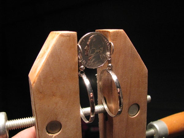 Five Cent Hoop Earrings