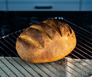 初学者的简单的白面包