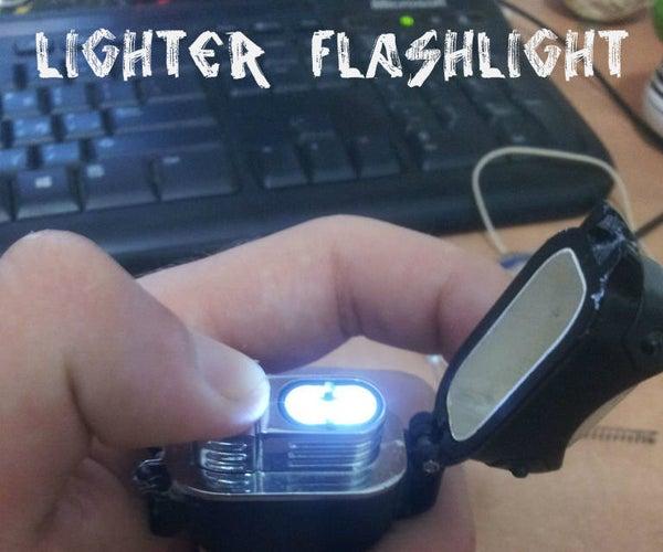 A Turbo Lighter Into a Flashlight