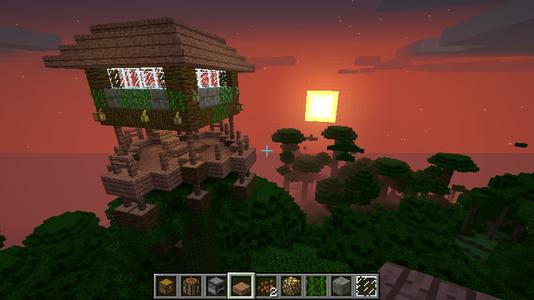 Awesome Minecraft Jungle Treehouse