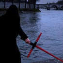 Customizable crossguard lightsaber, from The Force Awakens