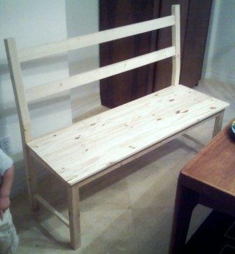 Stretching an Ikea chair into a bench Ivar - Ingolf