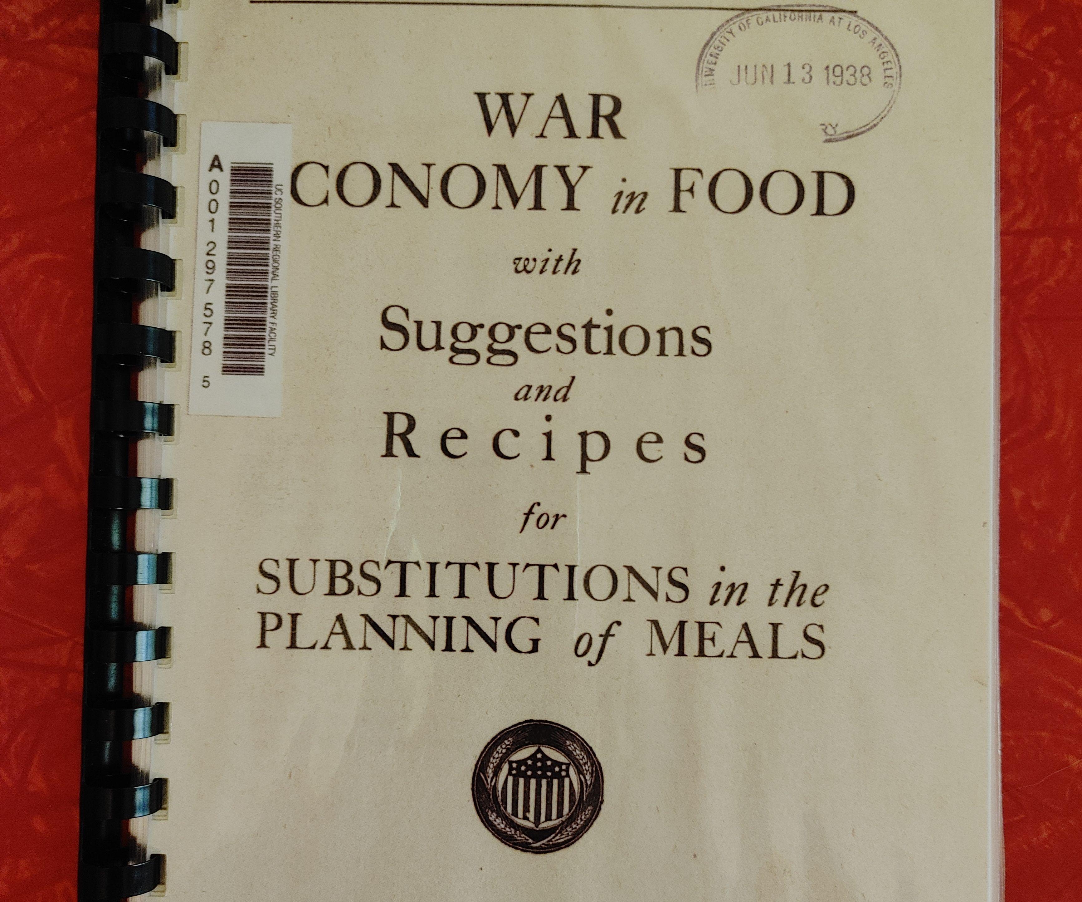 Rabbit in Casserole: War Economy in Food