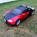 Bugatti Veyron paper-craft model