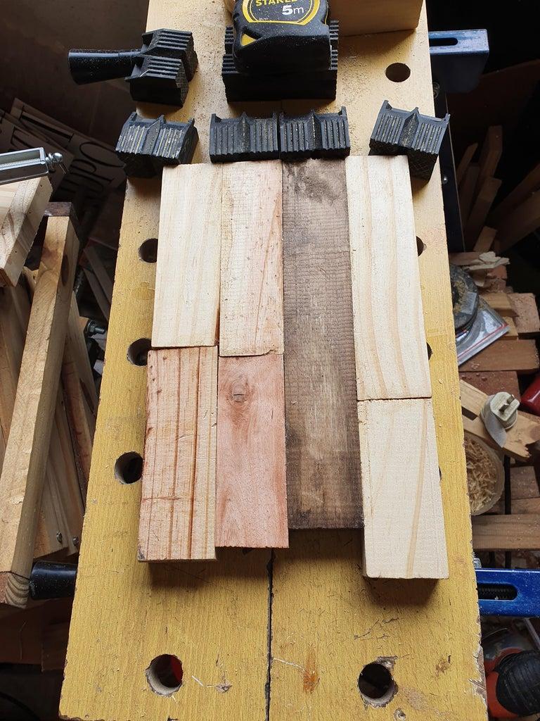 Estantería Para Bonsai De Madera Reciclada ( Bonsai Shelf Made of Recycled Wood)