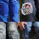 Patching Up Broken Kids-pants.