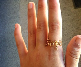 Adjustable Wire Word Ring
