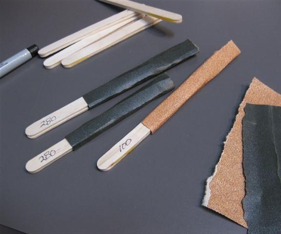 Popsicle Sanding Stick