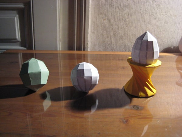 Polygon Paper Egg and Spheres