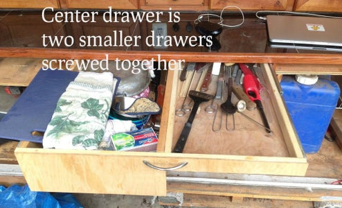 Installing the Drawers in the Galley