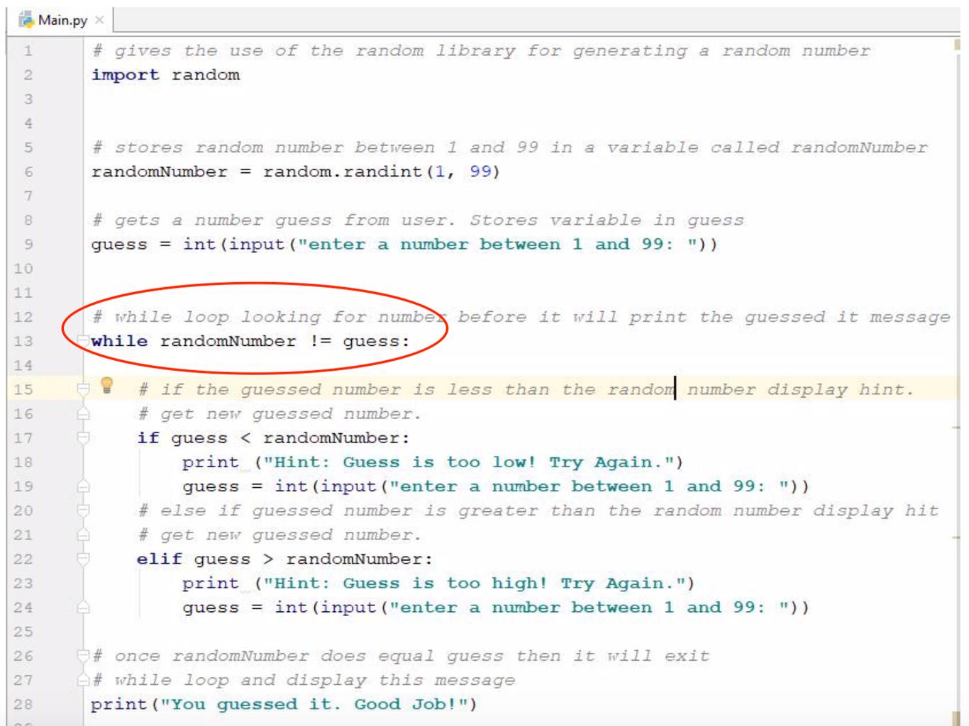 Creating a Basic While Loop