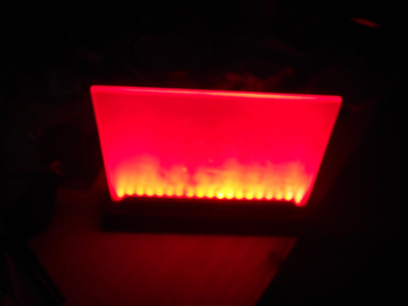 Acrylic Write Board With Red LEDs