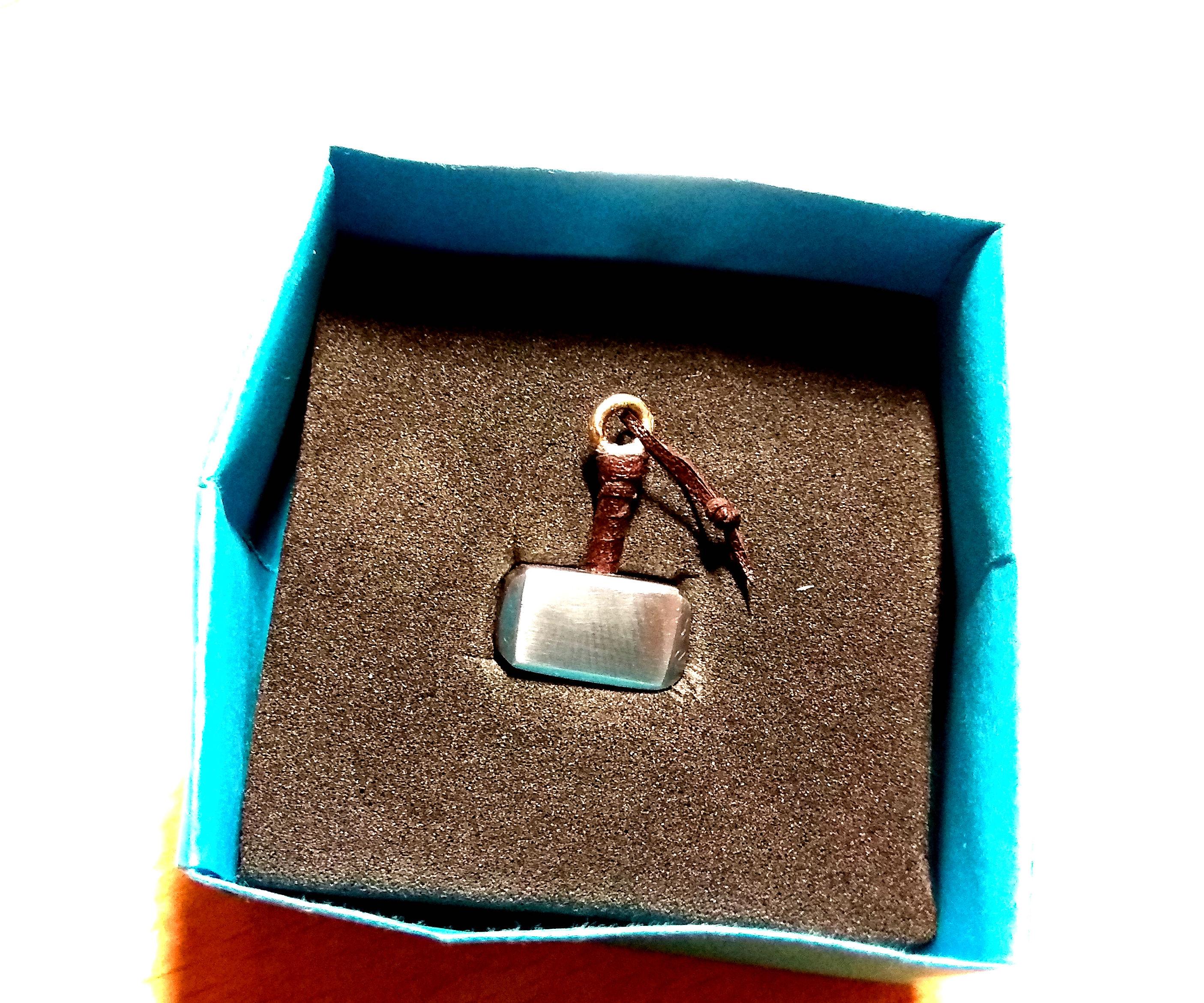 Micro Thor Hammer Mjolnir Keychain