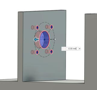 Design Process - Stepper Motor Mount - Bracket - Mounting Holes