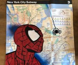 Spider-Man Street Art Subway Map