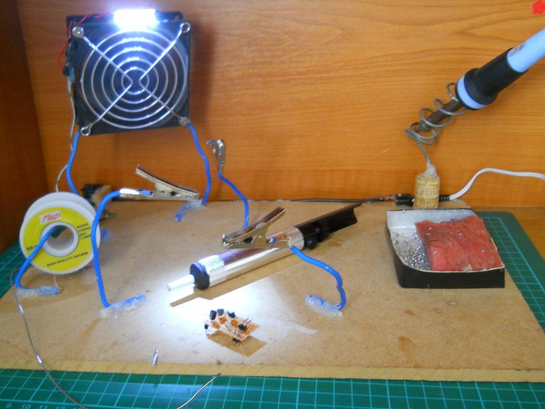 Soldering the Transistors