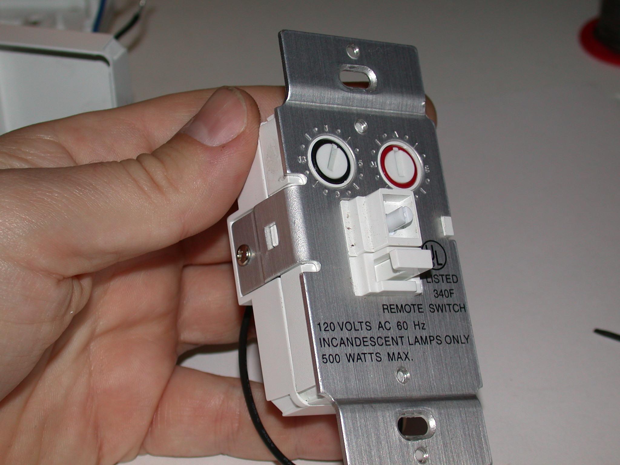 disassemble x10 wall switch