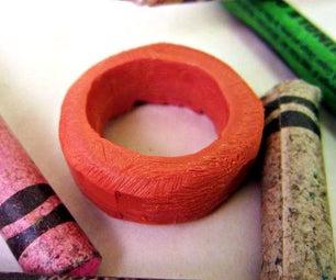 Upcycled Crayon Ring