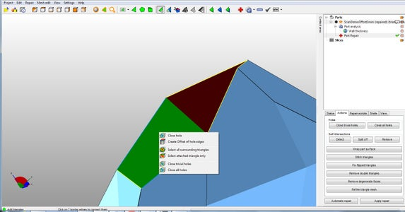 Manually Close Holes And/or Add Triangles