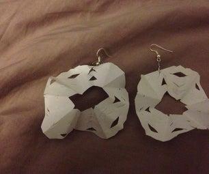 Paper Snowflake Earrings