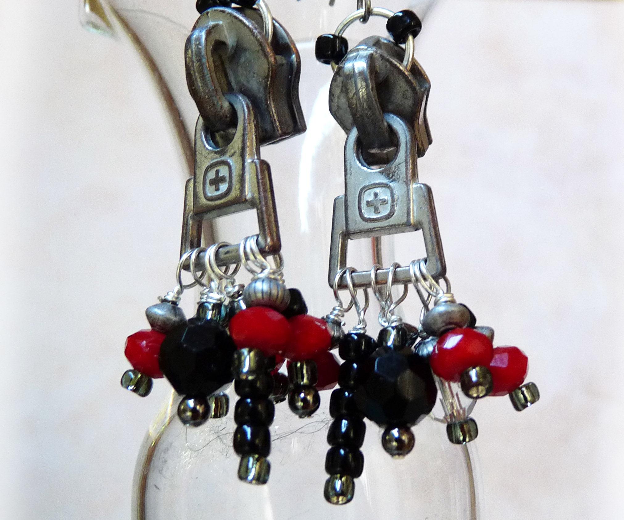 Zipper Pull Earrings