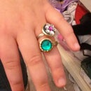 Crafty Jewlery Rings From Buttons