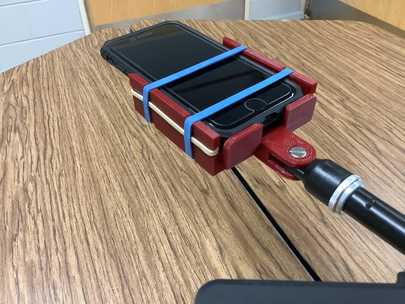 Connect the Microphone Clip to the Cellphone Mount and Attach to the Stand