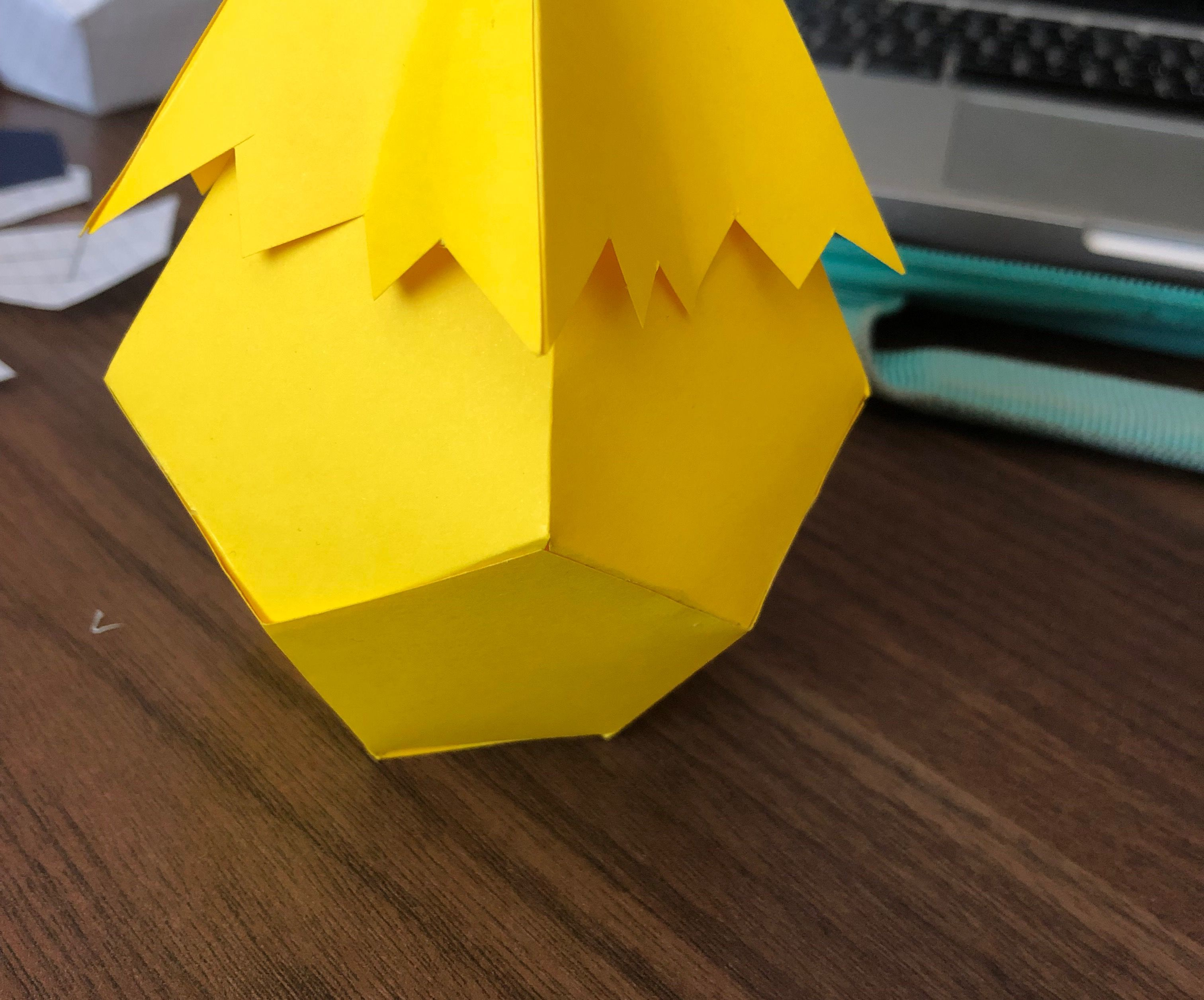 Low Poly Paper Egg