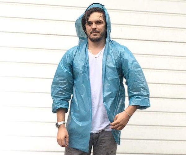 Raincoat From Plastic Bags
