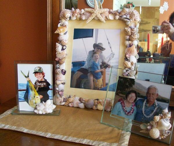 Shell-Embellished Photo Frames