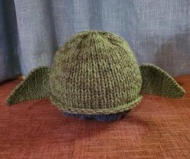 针织成人大小的婴儿尤达帽