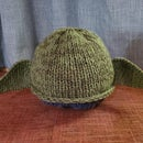 Knit an Adult-sized Baby Yoda Hat