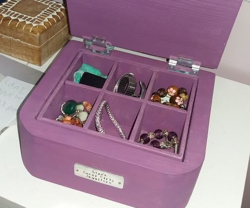 Solid wooden jewellery box