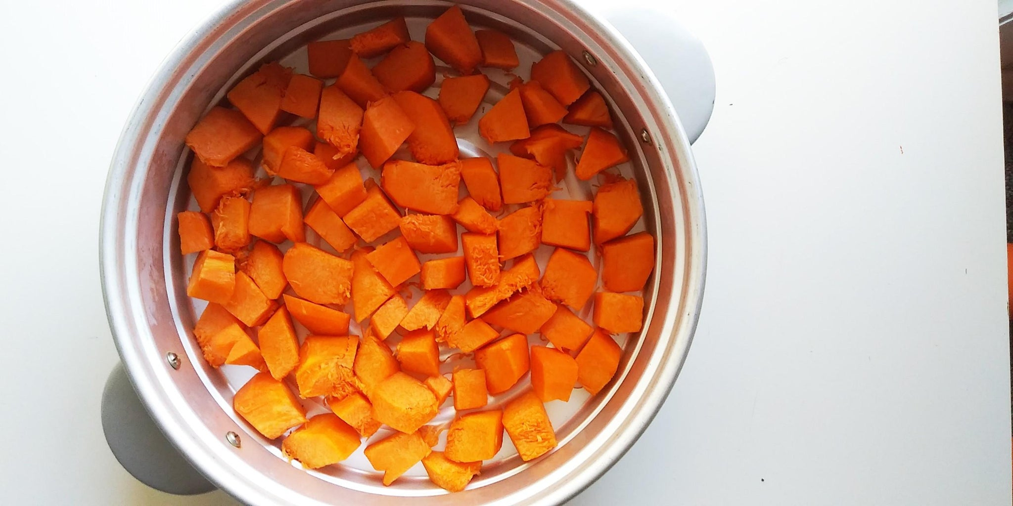 Steam Your Pumpkin Cubes.