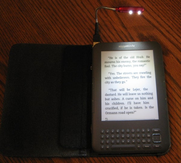 DIY Amazon Kindle Keyboard (K3) Illuminated Cover