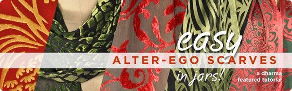 Easy Alter-Ego Scarves... in Jars!