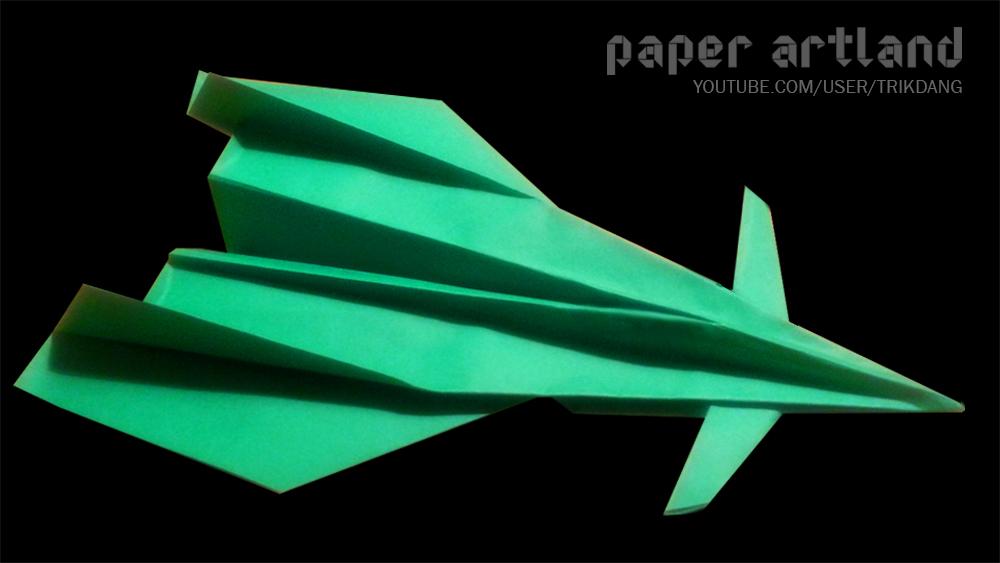 Paper Plane Tutorial: Sukoi 60   Futuristic Jet Fighter