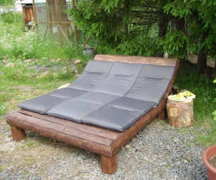 Lounge From 2x4s and Scrapwood