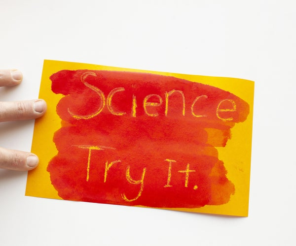 Goldenrod Paper Chemistry Painting